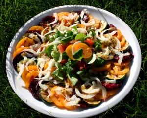 Salát s grilovanou cuketou