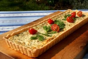 Citrónový koláč s bylinkami