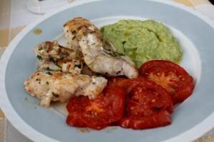 Ryba s avokádovým krémem