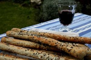 chlebové aperitivní tyčky