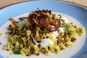 Mujaddara neboli čočka s rýží