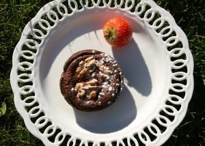 čokoládové koláčky s ořechy