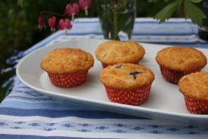 Borůvkové muffiny s banánem