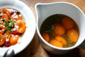 Pošírované meruňky