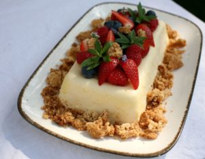 Tvarohovo-jogurtová terina s ovocem