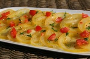 Carpaccio tomates jaunes