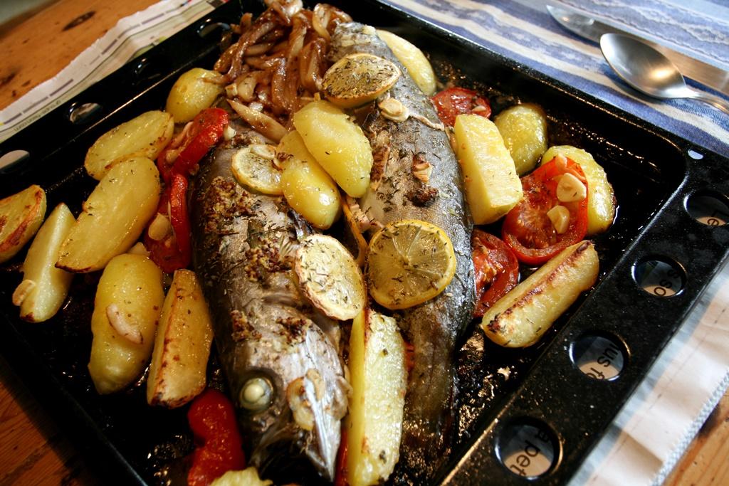 Ryba pečená s citrónem