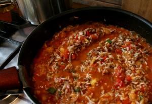 lilek plněný masovou směsí s rýží