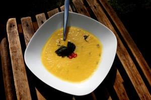 Pórková polévka s bazalkou a chilli