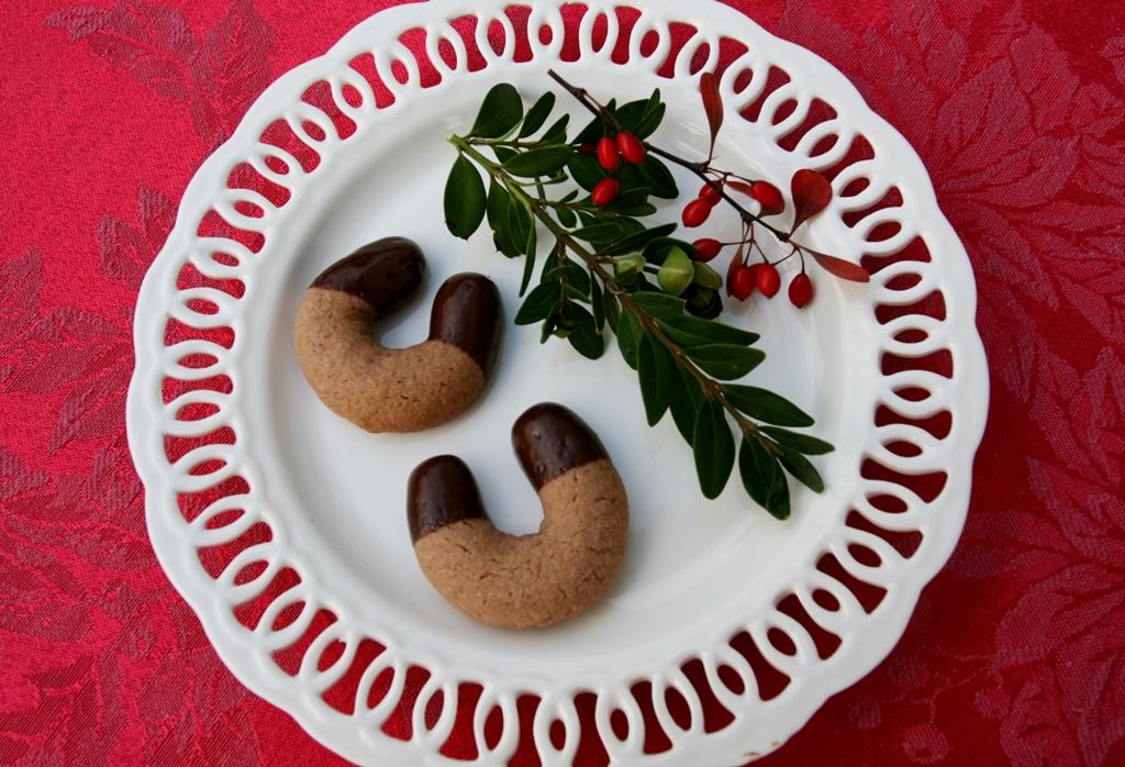 oříškové rohlíčky s čokoládou