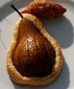 hruška pečená v listovém těstě