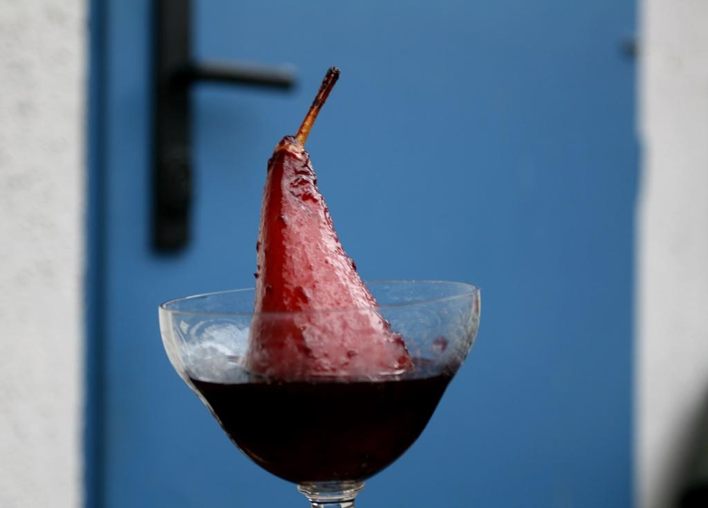 Hrušky vařené ve víně