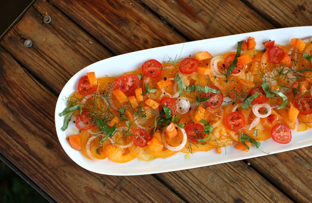 Oranžový letní salát